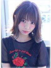 エス ヘア&ヒーリング(S hair&healing)グレーパール☆外はねミディアム☆2