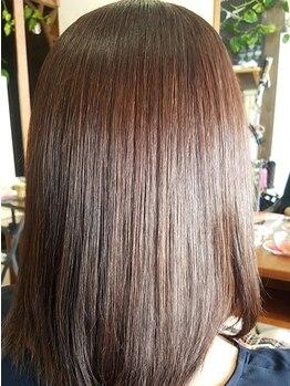 オッジ ヘアー(Oggi Hair)の写真/【悩んでいる方必見!】ツヤがない!パサつく!クセが強い!そんな方に人気の髪質改善縮毛が登場◎