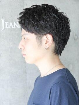 ジーナハーバー(JEANA HARBOR)アップバング モテ黒髪ショート☆ツーブロック☆ビジネスOK