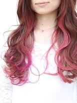 ユニカ ヘアー(UNICA hair)尾道市 人気 UNICA インナーカラー ピンク