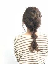 ヘアメイク オブジェ(hair make objet)オリーブブラウン 簡単アレンジヘア