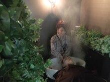 クラシオン(CURACION)の雰囲気(癒しの空間、森シャンプーブースです。眠りの世界へ)