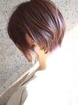 【morio成増】大人ショート 上品 ピンクアッシュ 30代 40代 春夏