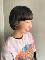 テトヘアー(teto hair)ワイドバング ・刈り上げ・黒髪・ミニボブ