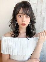 シェルハ(XELHA)アフロート斎藤 小顔ミディアムヘア暗髪くびれレイヤー
