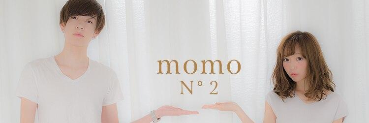 モモニゴウテン(momo no2)のサロンヘッダー