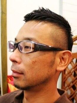 ヘアー マサ(hair MASA)の写真/【お客様の半分が男性】サラリーマンから大人気◎男性でも通いやすい街中のプライベートサロン♪