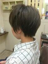 ファシオ ヘア デザイン(faccio hair design)ショート×イルミナカラーのアッシュ