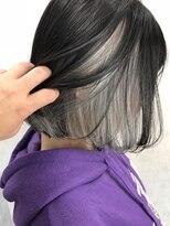 インナーカラーショートボブ美髪ケアダブルカラーグラデーション
