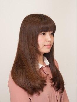 ヘアメイクリレイション (hair make Relation)の写真/梅雨でもいつでもサラサラストレート!相性抜群のトリートメントと合わせて美しい艶髪をアナタに♪