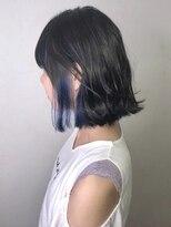 ソース ヘア アトリエ 京橋(Source hair atelier)【SOURCE】耳かけインナーブルー