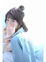 【Ciel】 ショートヘアのハーフアップお団子アレンジ
