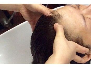 バーバーパパ(Barber PaPa)の写真/頭皮改善しながら保湿や心地良いマッサージで心まで癒される・・・☆