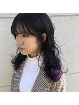 ヘアーアイストゥーレ(HAIR ICI TRE)ビビットパープル裾カラー