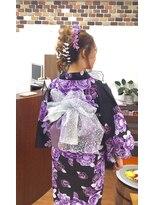 サロンド クラフト(salon de craft)【浴衣】華やかな帯結びアレンジの浴衣スタイル♪