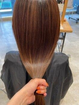 ヘアーエスクールステラ(hair S.COEUR stella)の写真/エスクールブランドAte.のオリジナルトリートメントで髪質改善が手軽にできる♪