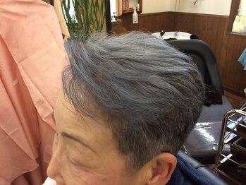 ゾーンヘアの写真/気になる白髪もお洒落なグレイカラーへ★いつまでもカラーを楽しんでほしい!グレイアッシュがオススメ◎
