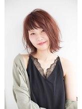 ヘアサロン セロ(Hair Salon SERO)【姫路SERO】シースルーバングと外ハネの無造作スリークボブ