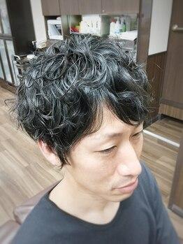 ヘアスペース ブルームの写真/ポイントパーマもお得♪毛量が少ない方でも簡単にボリュームアップ☆髪を傷ませずに綺麗な仕上がりを実現。