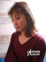 LAGOON ALIVE 亀田一磨 ☆アクセサリーパーマ☆