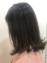 ヘアーアンドメイク ルシア 梅田茶屋町店(hair and make lucia)切りっぱなしロブ×ダークグレージュ