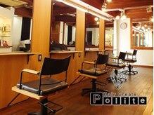 ヘアークリエイト ポライト(hair create Polite)の雰囲気(茶を基調としたウッディーな癒しの空間♪[四条河原町/四条烏丸])