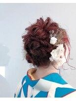 ルッツ(Lutz. hair design)卒業式ヘア着付け
