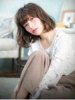 オーブ ヘアー カルネ 松戸店(AUBE HAIR carnet)ルーズウェーブ☆重めバングのカジュアルスタイル