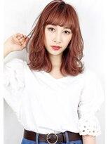 ヘアサロン ガリカ 表参道(hair salon Gallica)『ダメージレスパーマ』×『ピンクグレージュ』ひし形シルエット