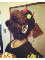 日本髪風スタイル