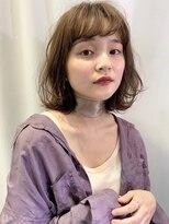 ロッジ 原宿店(RODGE)【nana】ゆるふわ レイヤー ミルクティーベージュ 原宿 表参道