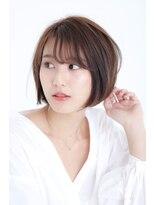 アッシュタカサキ(ash takasaki)30代40代★大人かわいいマニッシュ丸みショートボブ