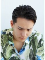 リップスヘアー 銀座(LIPPS hair)カリアゲジェリーリバース オールバック ジェントルマン 銀座