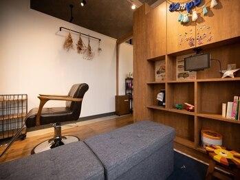 キャンパス(campus.f)の写真/キッズスペース完備☆半個室でお子様の様子を見ながらサロンタイムをお過ごし頂けます♪
