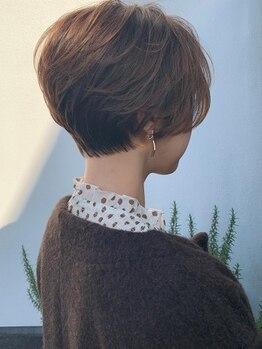 レーベン(LEBEN)の写真/手ぐしでまとまるオリジナルショートヘアー!全体のバランスも良くイメージ以上の仕上がりに!