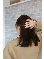 ヘアーメイク プリュム(Hair make Plume)インナー×薄グリーン