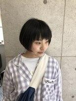 キュートな重ためショートボブスタイル☆