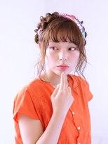 アース 長久手店(HAIR & MAKE EARTH)編込み×スカーフのエフォートレス・夏アレンジ 【EARTH長久手】