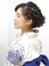 レクリヘアー(RecRe hair)【RecRe hair】浴衣×編み込みカールアップ
