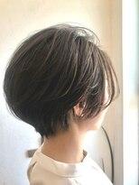 ヘアーヒーリングウィッシュ(Hair Healing Wish)大人かわいい小顔ショートヘア オリーブカラー 調布国領