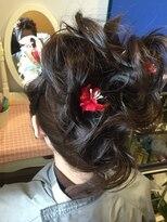 成人式 黒髪ヘアセット