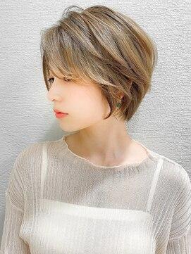 シェルハ(XELHA)【谷 賢二】大人かわいい小顔ひし形ショートボブ20代30代40代◎