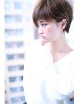 グレージュスポンテニアスアシンメトリーショート【Cloud zero】