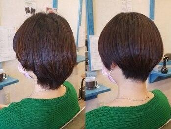 ヘアー リラクゼーション ドロップ(Hair relaxation drop)の写真/乾かすだけで形が決まるショートスタイルを体験してみませんか?
