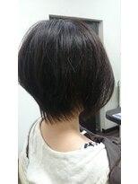 ヴィオレッタ ヘアアンドスペース(VIOLETTA hair&space)ショートカット×ブラウンカラー×透け感感[塚口美容室]