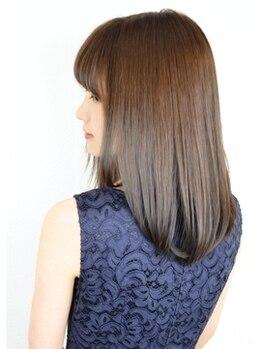 アッシュヘアーの写真/最新毛髪科学による美髪縮毛!理想以上の手触りにリピーターが後を絶たない!