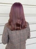 ルッツ(Lutz. hair design)黒髪卒業式_ラベンダーベージュ
