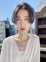テトヘアー(teto hair)ハンサムショート グレー シルバー デザインカラー ダブルカラー