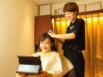 ヘアメイク ポルテ(HAIR MAKE PORTE)の写真/【盛岡駅徒歩3分】毎日忙しく頑張る貴方にぜひ試してほしいポルテの本格的ヘッドスパで癒しのご褒美を。
