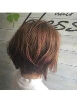 ブレス ヘアアンドスパ 湘南台(bless hair spa)オレンジボブ